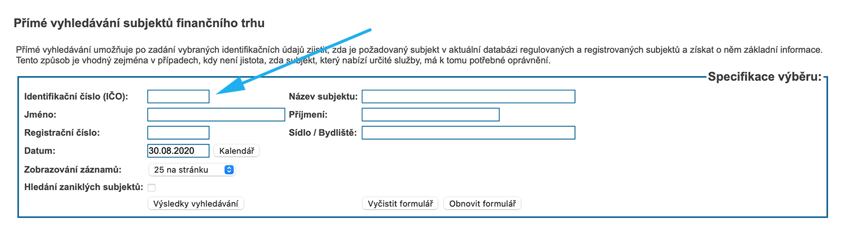 Krok 4. z webu cnb.cz