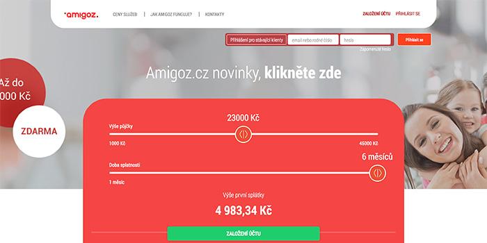 Amigoz nová rychlá půjčka na českém trhu, pro nové klienty zcela.
