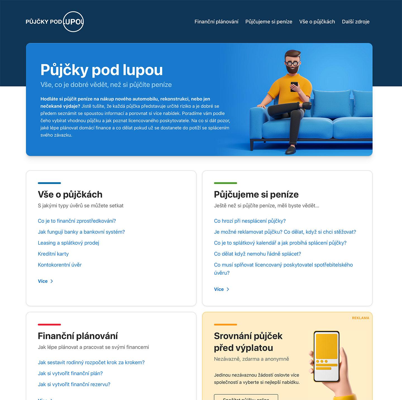 www.pujckypodlupou.cz