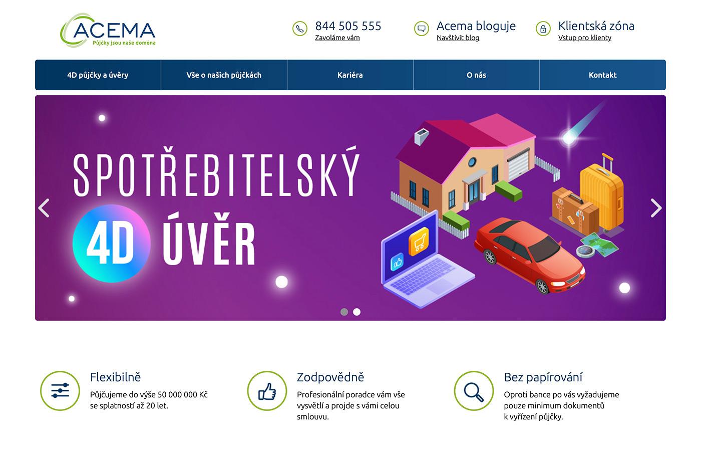 Náhled webu https://www.acema.cz