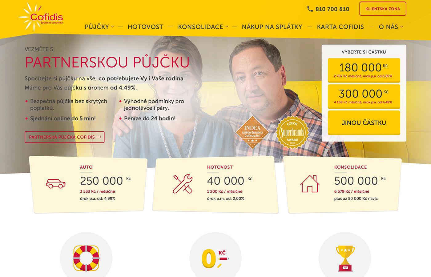 Náhled webu https://www.cofidis.cz