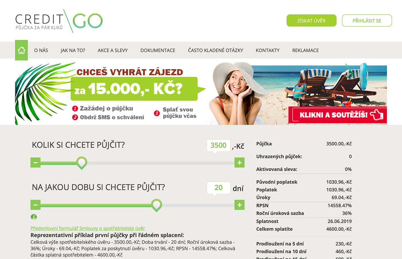 Náhled webu https://www.creditgo.cz