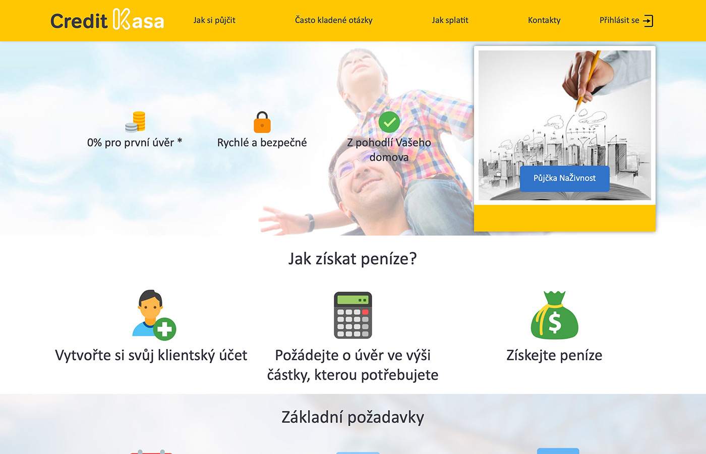 Náhled webu https://www.creditkasa.com