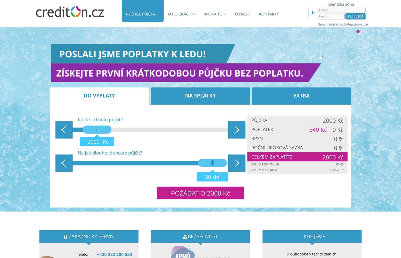 Náhled webu https://www.crediton.cz
