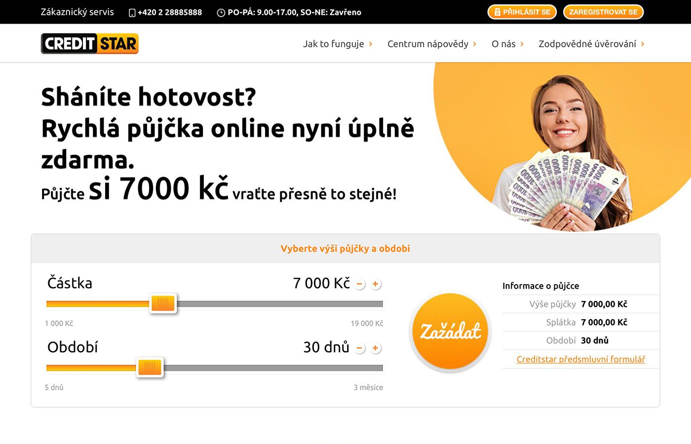 Náhled webu https://www.creditstar.cz