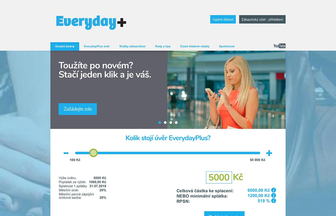 Náhled webu http://www.everydayplus.cz