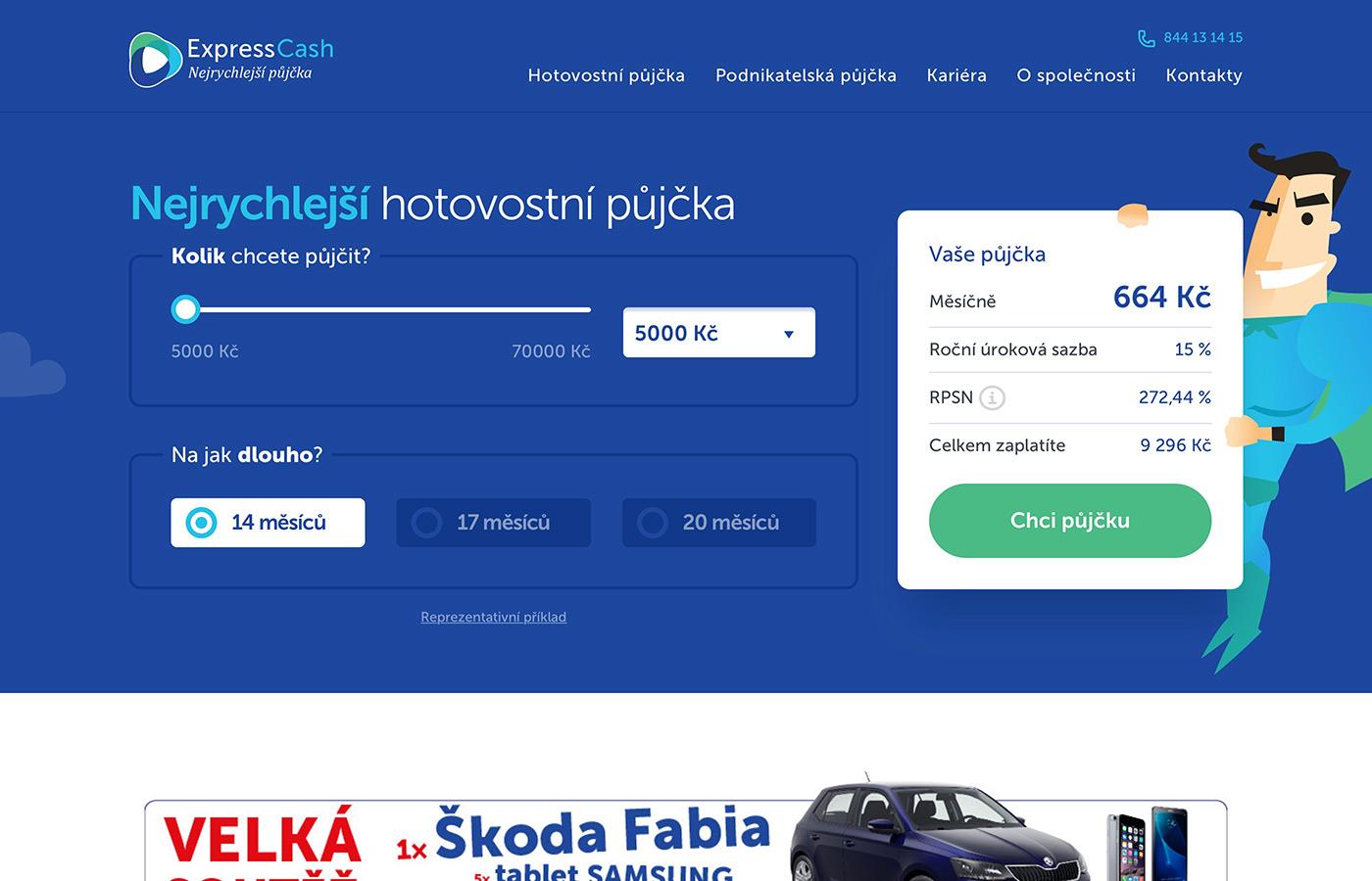 Náhled webu https://www.expresscash.cz