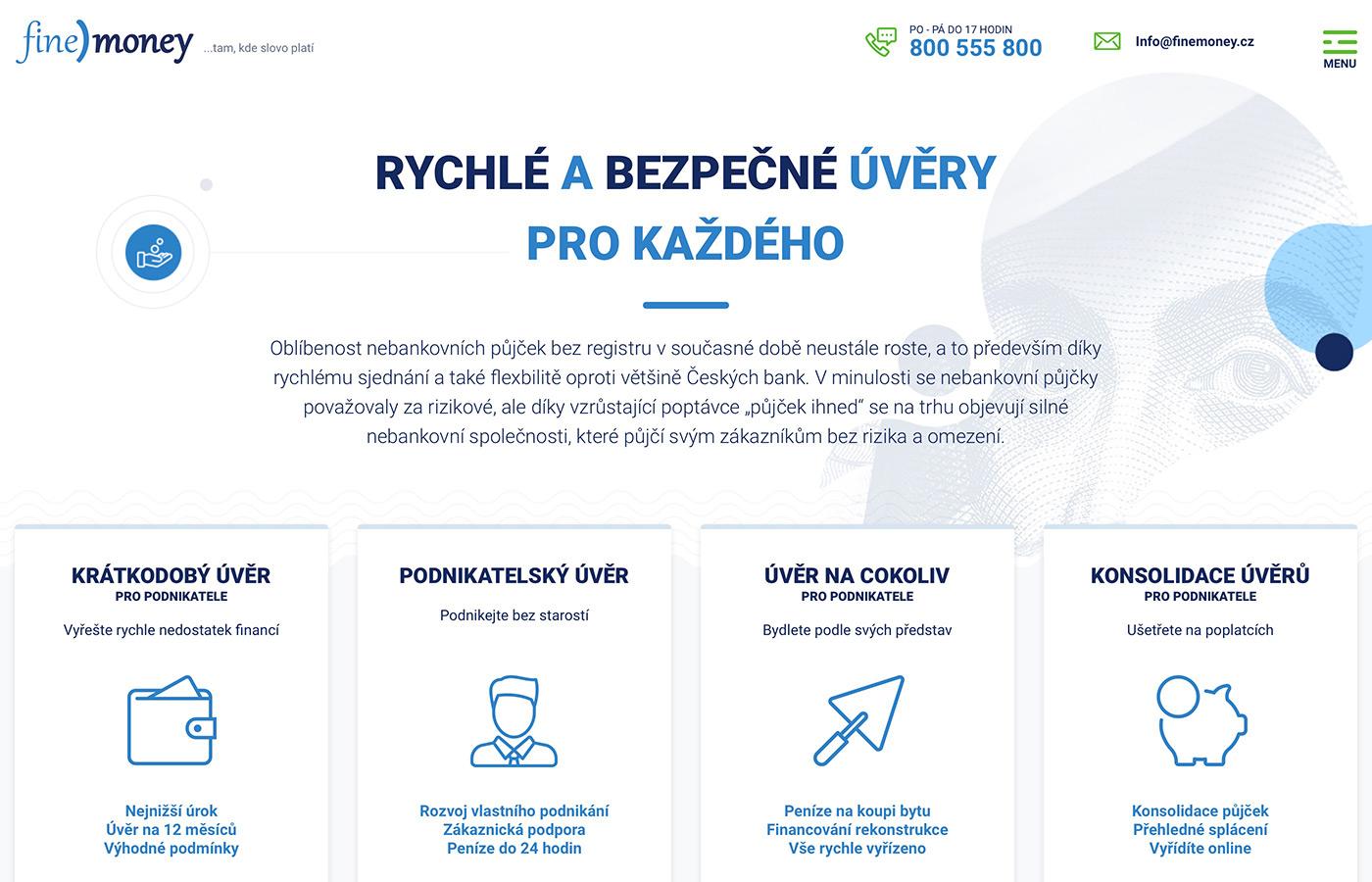Náhled webu https://www.finemoney.cz