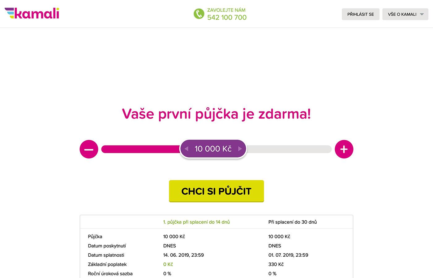 Náhled webu https://www.kamali.cz