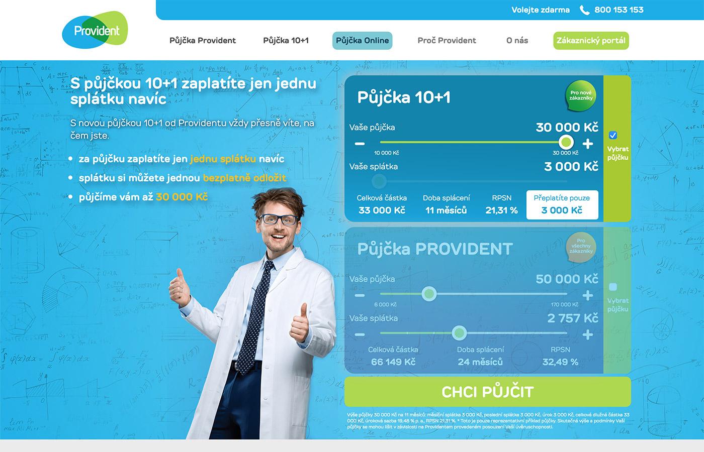 Náhled webu https://www.provident.cz/pujcky/pujcka-10-1