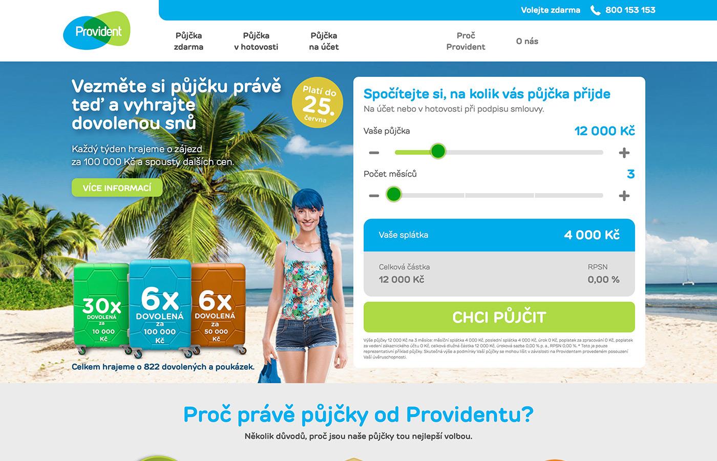 Náhled webu https://www.provident.cz/pujcky/pujcka-zdarma