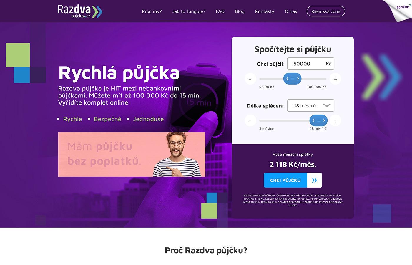 Náhled webu https://www.razdvapujcka.cz