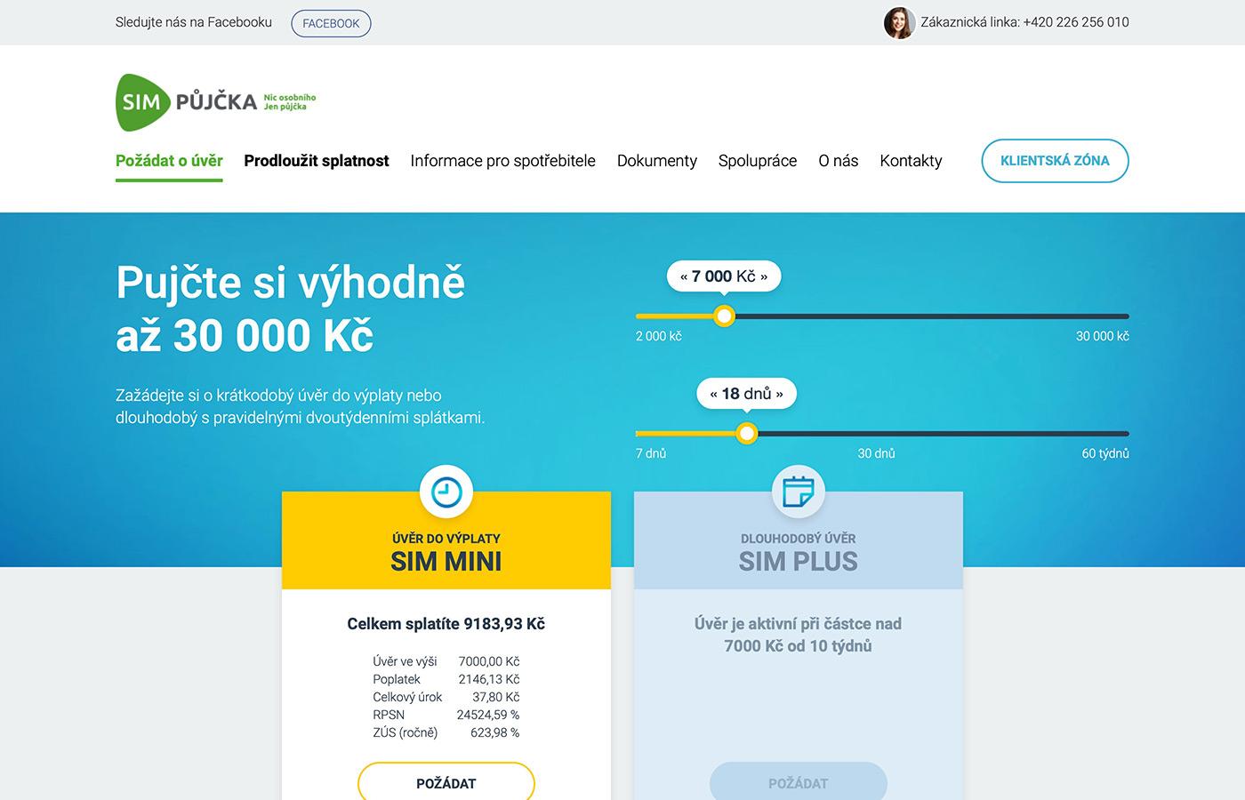 Náhled webu https://www.simpujcka.cz