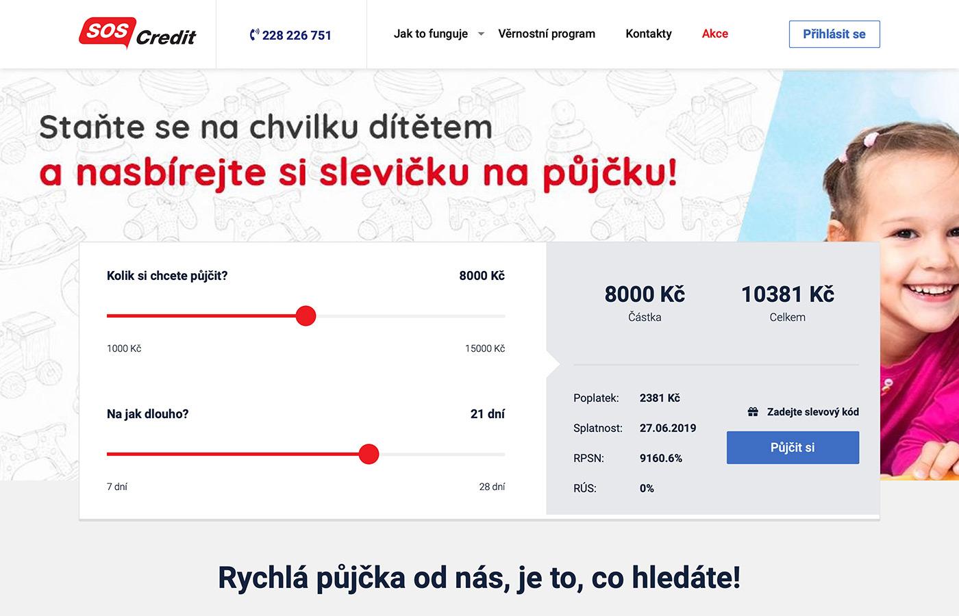 Náhled webu https://www.soscredit.cz