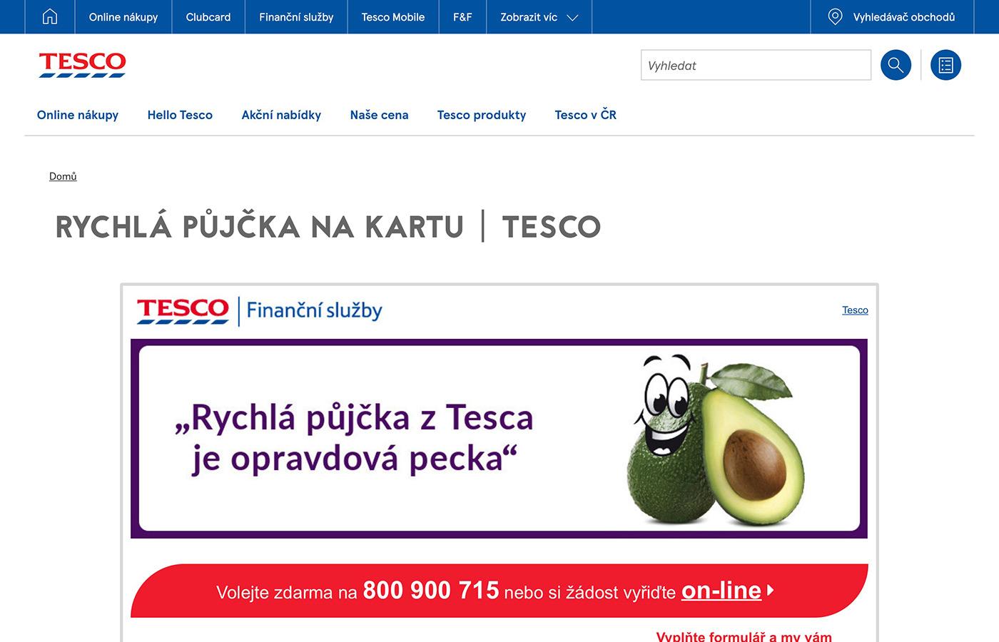 Náhled webu https://www.tescouver.cz