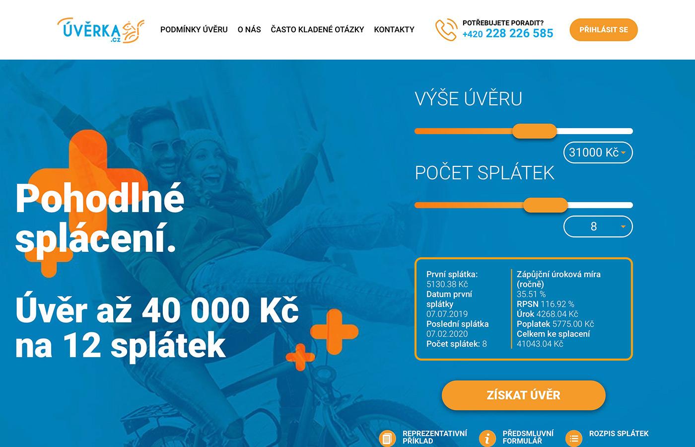 Náhled webu https://www.uverka.cz