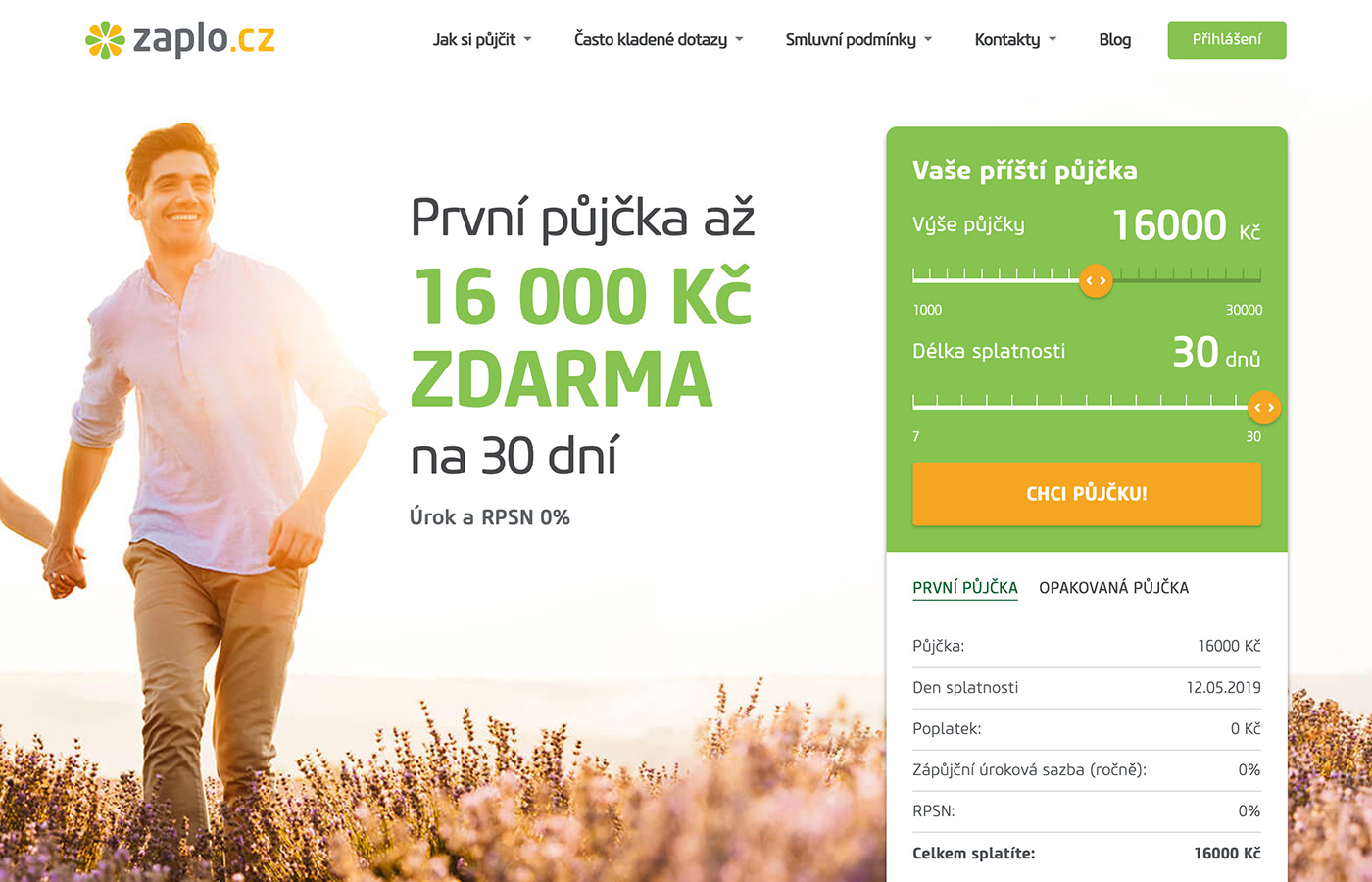 Náhled webu https://www.zaplo.cz